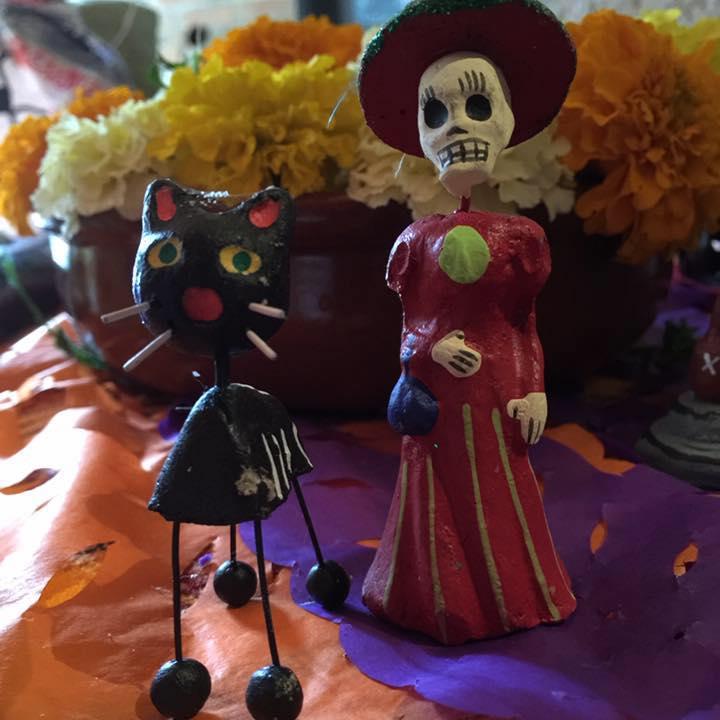 Detalle de la ofrenda de muertos - México DF