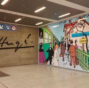 Arte mural en Bruselas – Paredes pintadas con escenas de comics