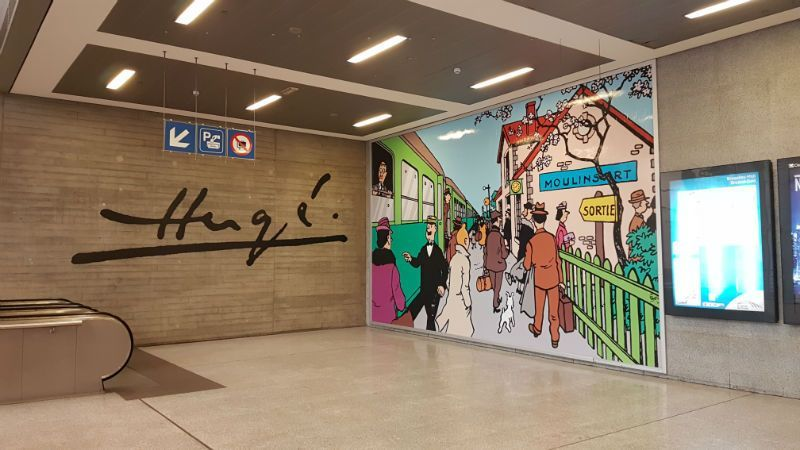 Mural de Tintín - Bruselas