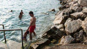 Disfrutando de las playas de Piran - Eslovenia
