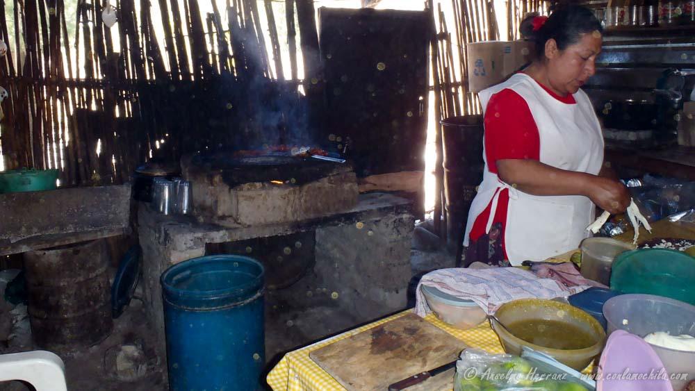 Cocina Del Restaurante de Hierve El Agua - Oaxaca; México