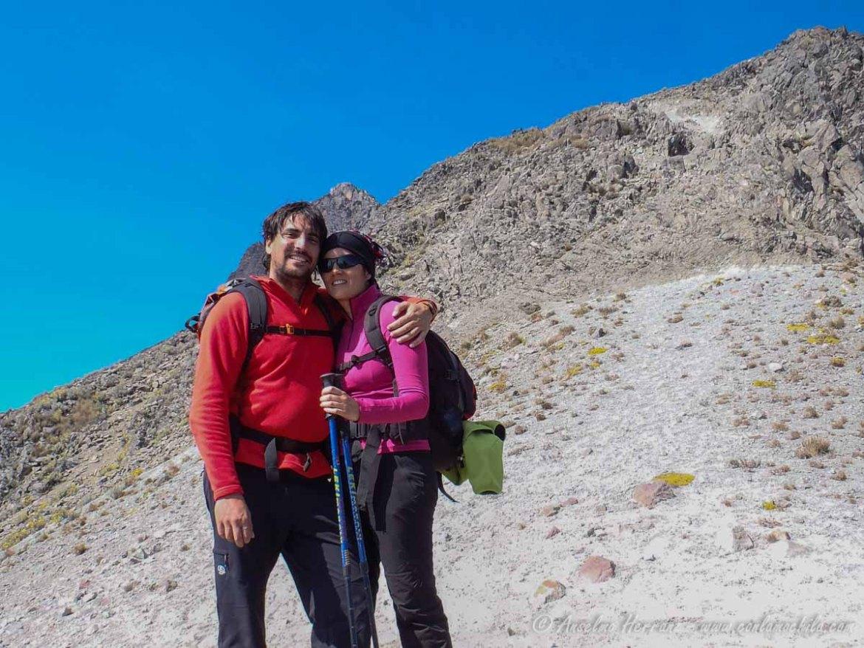 Antes de encarar la arista hacia el Pico Fraile - Nevado Toluca