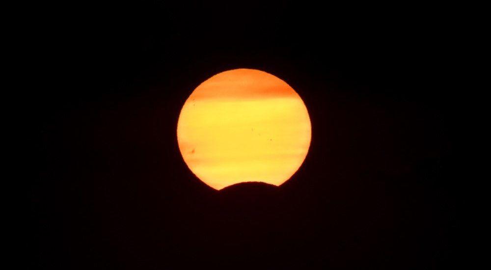 Eclipse de Sol desde Nieva, Segovia - España