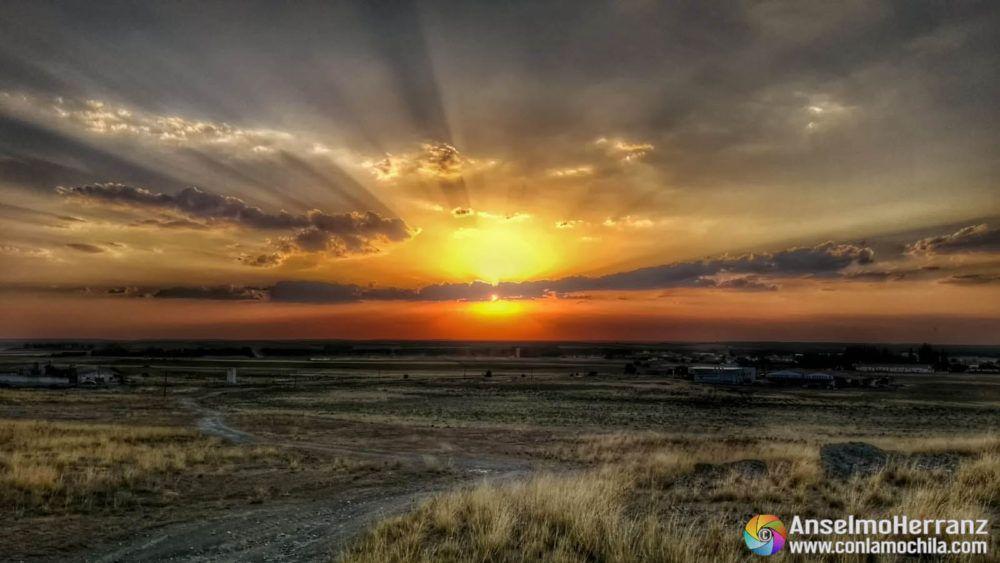 Puesta de sol sobre Nieva - Segovia