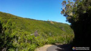 Parking 25 Fontes visto desde la carretera que va a Casa Rabaçal - Madeira