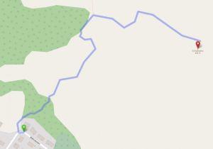 Mapa de acceso a la Svolvaergeita - Svolvaer - Noruega