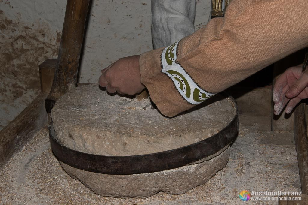 Molino de piedra para grano