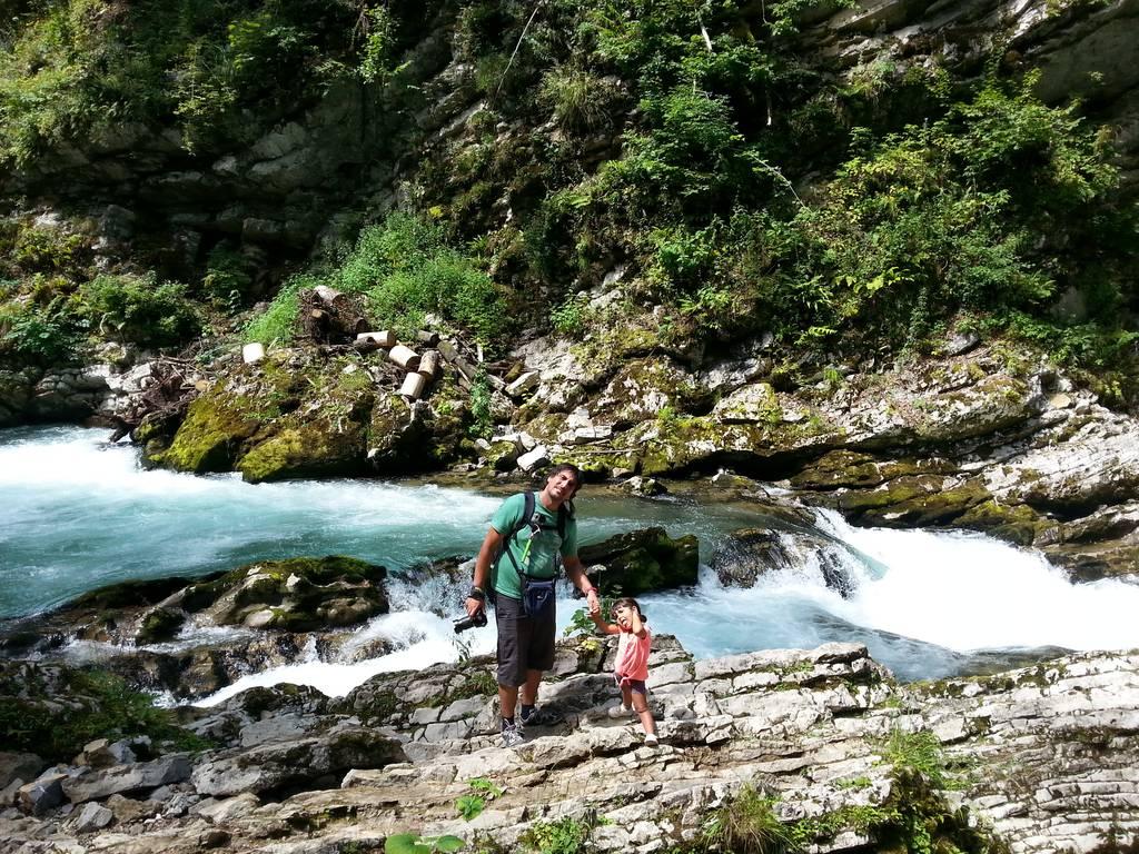 Disfrutando de la naturaleza - Vintgar Gorge - Eslovenia