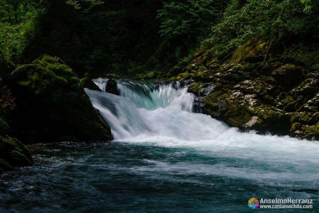 Pequeño salto de agua - Vintgar Gorge - Eslovenia