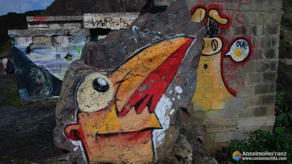 Grafitis en el Mirador de las Teresitas - Tenerife