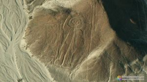 Astronauta u hombre búho - Líneas de Nazca - Perú