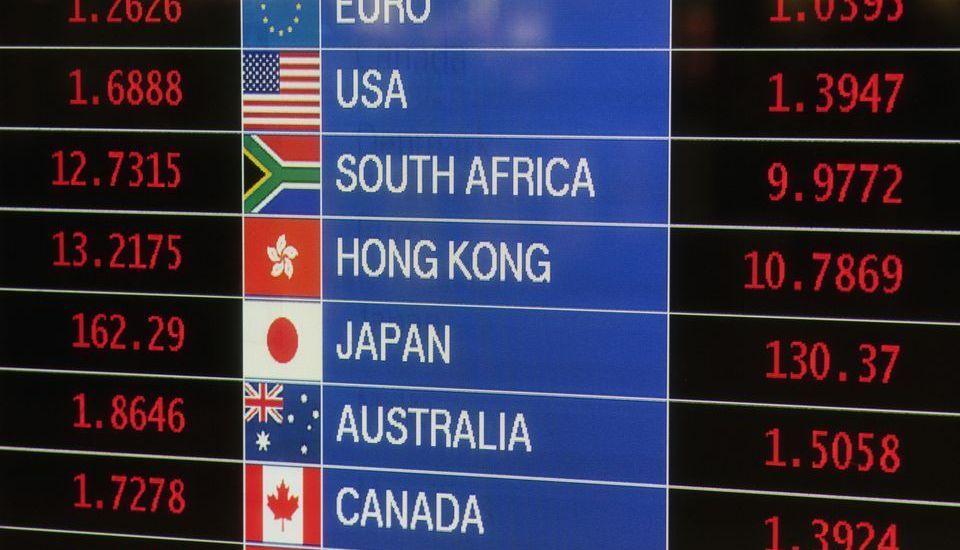 Panel de cambio de divisas