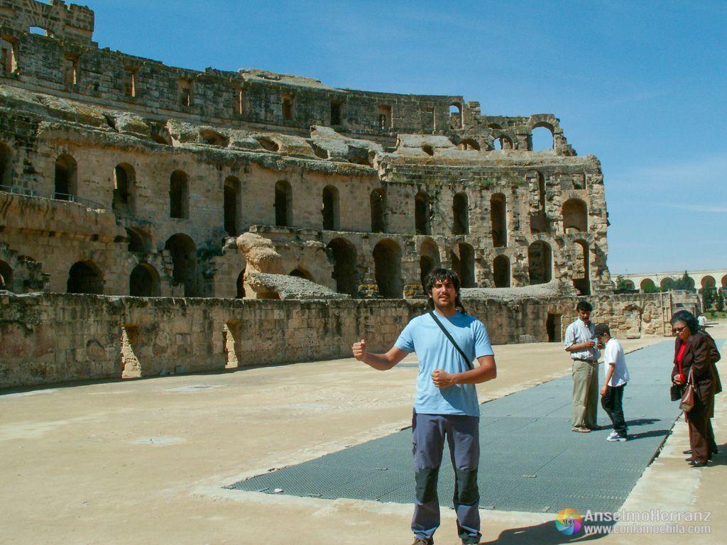 En la arena del Anfiteatro de El Djem - Túnez