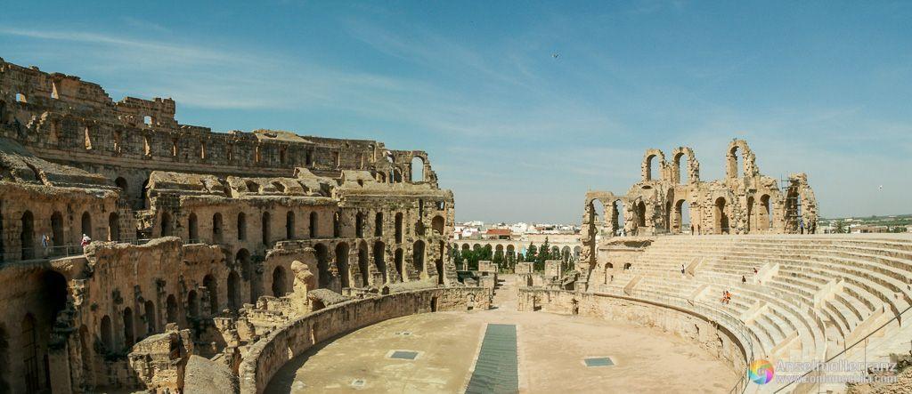 Panorámica de el Anfiteatro de El Djem - Túnez