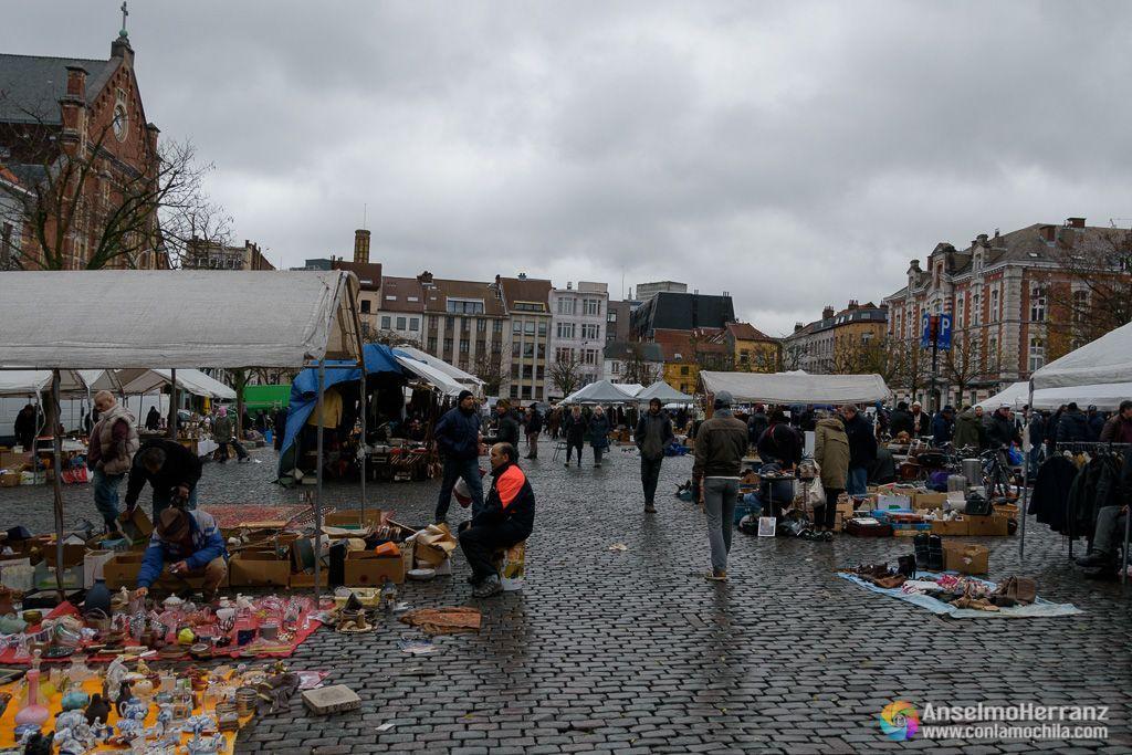 Visita al mercado de las Pulgas - Place du Jeu de Balle - Les Marolles - Bruselas