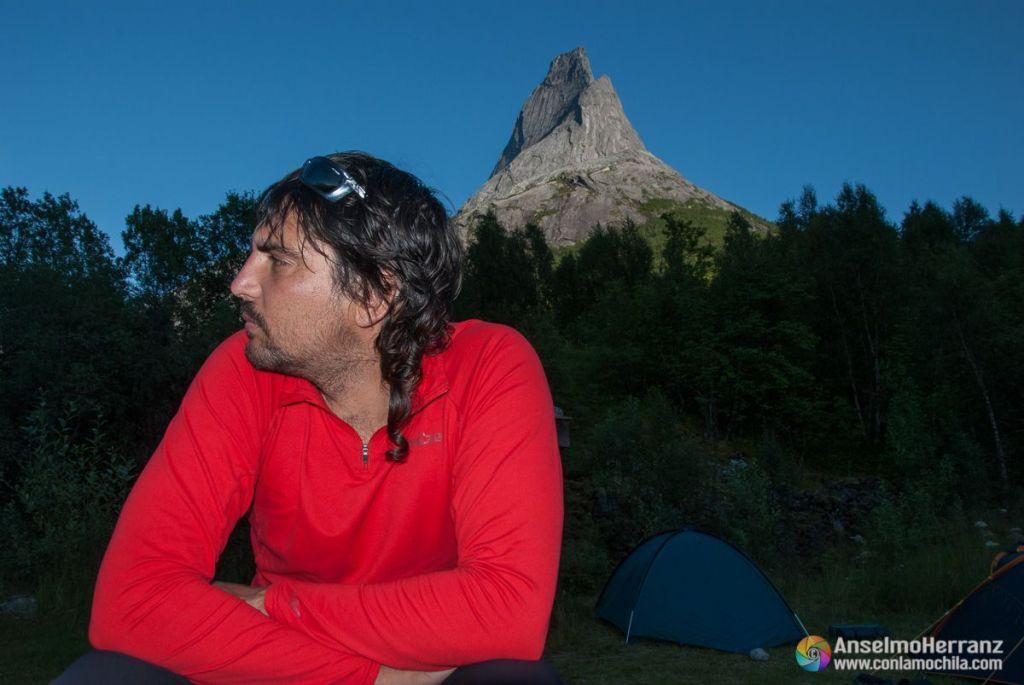 En la zona de acampada - Stetind - Noruega