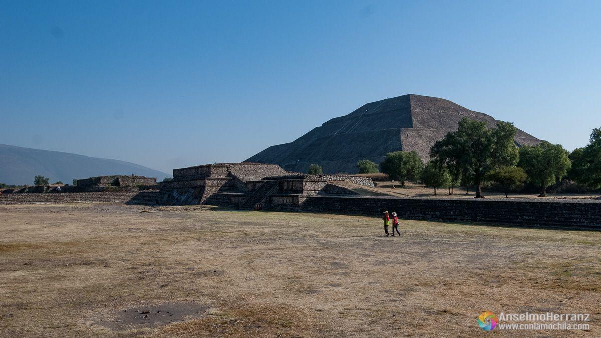 Pirámide del templo del Sol - Teotihuacán - México