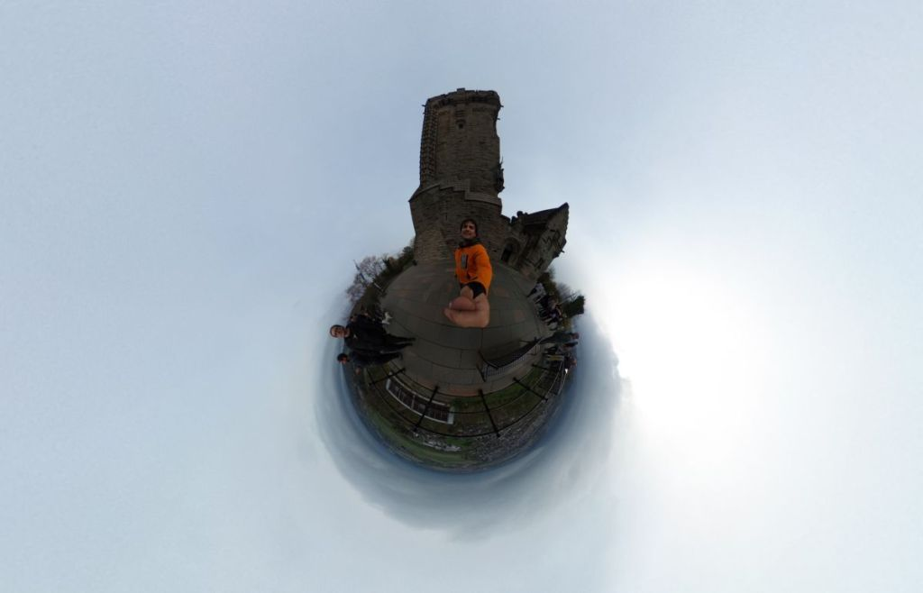 Tiny Planet en el Wallace Monument - Stirling - Escocia