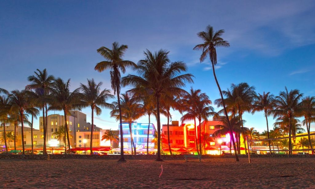 Atardecer en Miami Beach - Florida