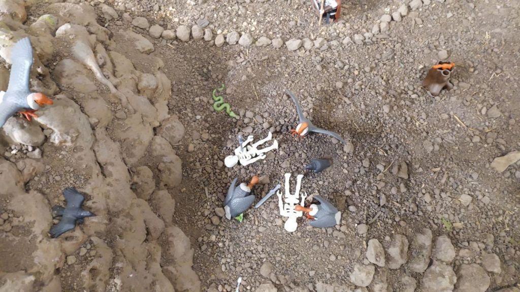 Numantinos fallecidos en combate entregados a las carroñeras