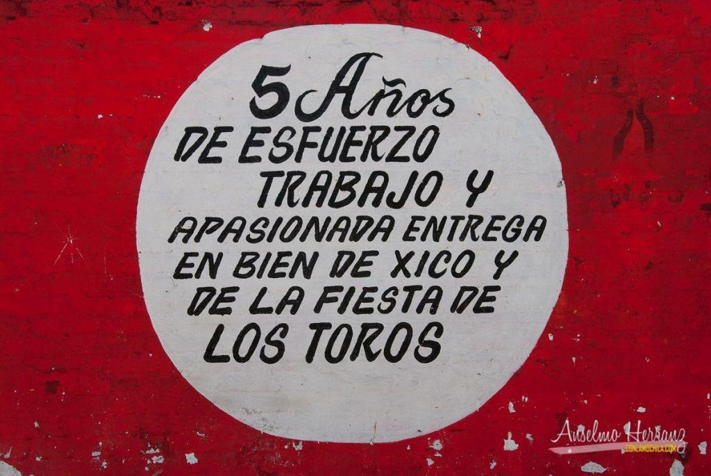 Cartel en la plaza de toros de Xico - Veracruz
