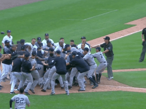 Tigers vs Yankees big brawl