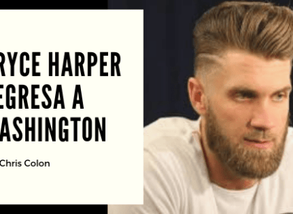 Bryce Harper regresa a Washington