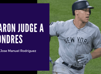 Aaron Judge se monta en el avión para el Yankees-Boston de Londres