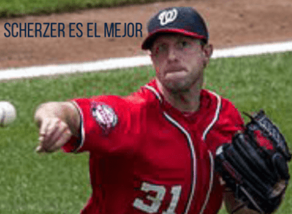 Max Scherzer está super-onfire con Washington Nationals