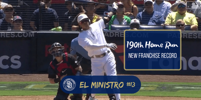 190th Home Run New Franchise Record Padres