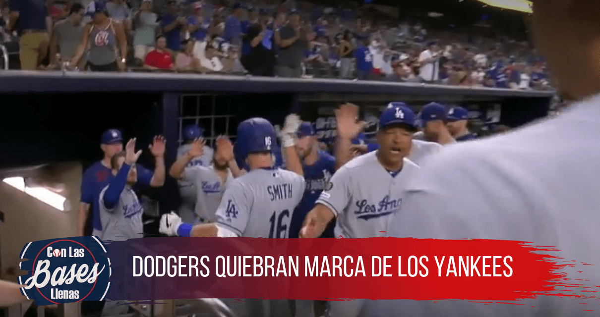Dodgers quiebran marca de los Yankees