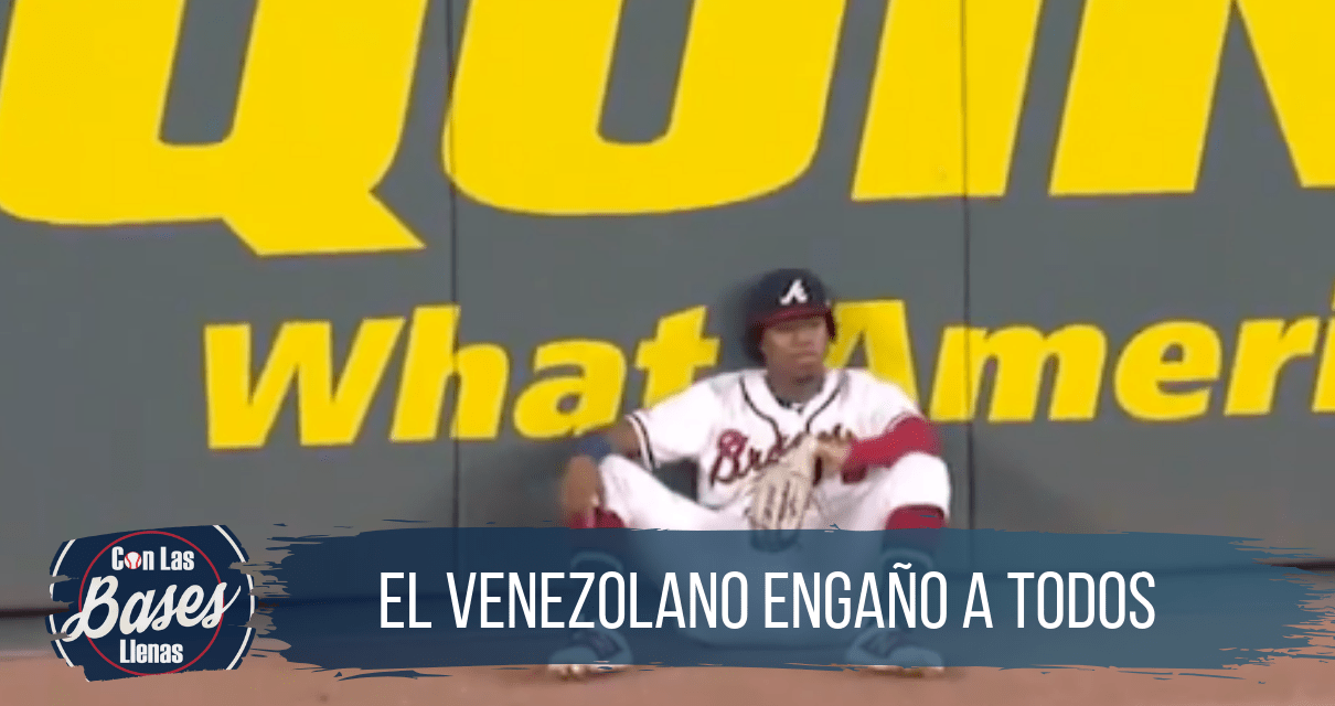 Ronald Acuña roba un home run