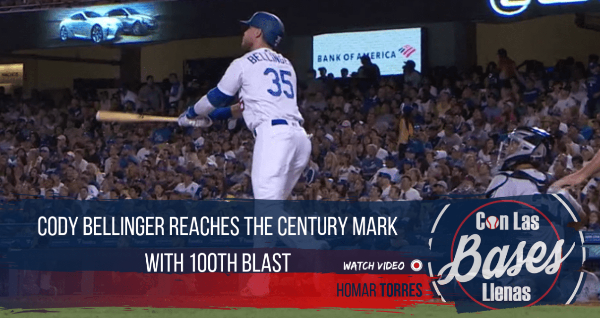 Cody Bellinger reaches the century mark with 100th blast