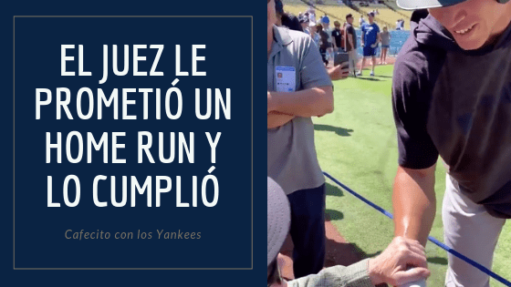 Aaron Judge promete un home run