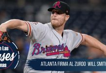 Atlanta firma al relevista zurdo Will Smith