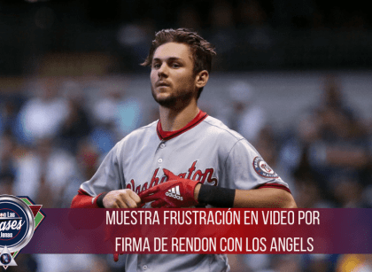 Trea Turner patea camiseta de Anthony Rendon