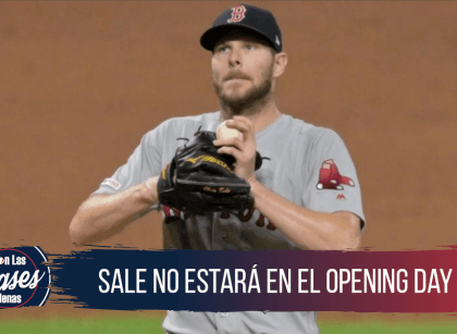 Chris sale no estara en el opening day por neumonia