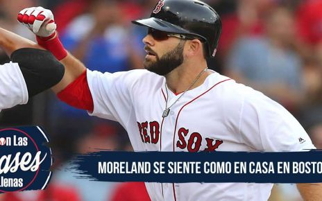 Mitch Moreland a gusto en Boston