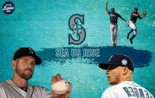 Kyle Seager, Kyle Seager, Kyle Lewis, James Paxton y JP Crawford