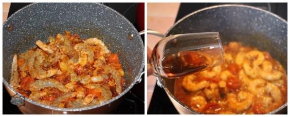 Espaguetis con langostino y tomatitos cherry 2