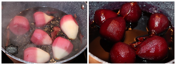 peras al vino tinto 5