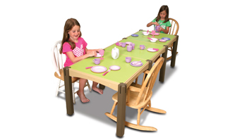 Children Having a Tea Party on a Kids' Modular Activity Table