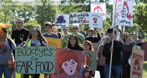 Fair Food protestors outside Wendy's Headquarters May 2017