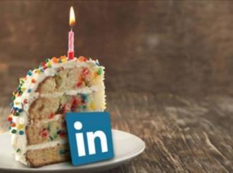 Linkedin birthday cake