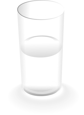 glass half empty half full