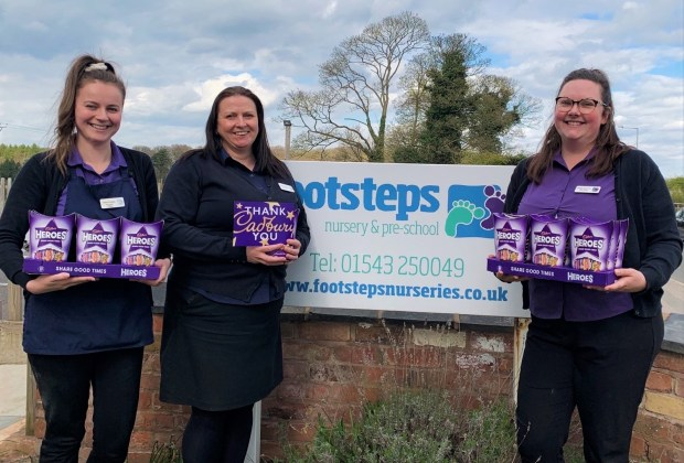 B&DWM - Staff at Footsteps Nursery & Preschool with their chocolates - 2021-e8649871