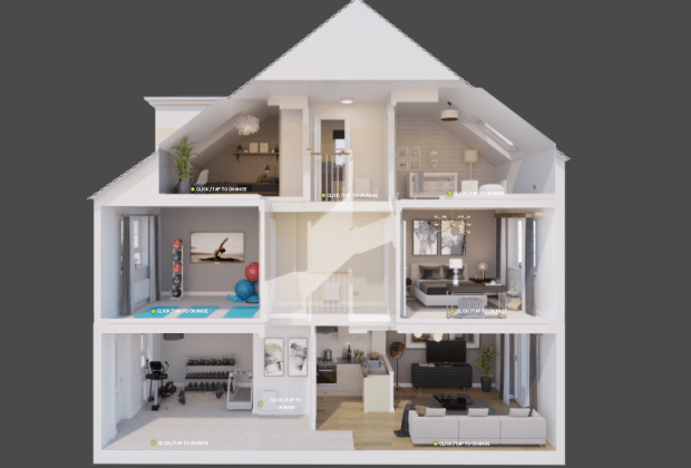 BM - A Kingsville on Barratt Homes' interactive doll's house with a gym and yoga room-d2d2cf44