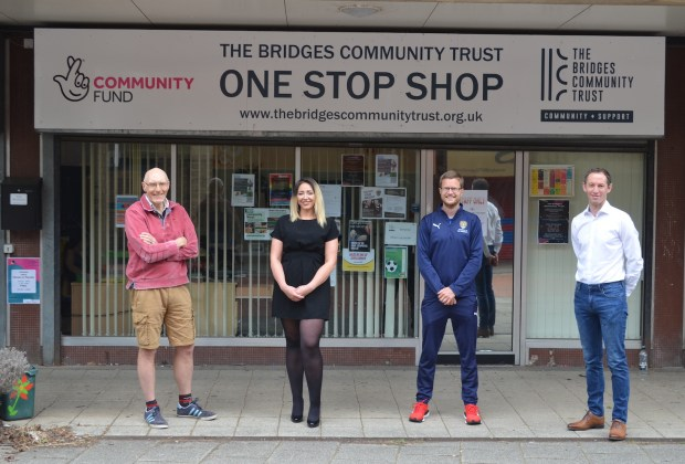 Notts County Foundation_(L to R) Chris Henderson, Sarah Robertson, Sam Crawford, Mark Hawkins-1068b7ff