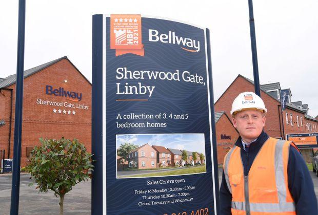 Neil O'Grady at Bellway's Sherwood Gate development in Linby-6635b423