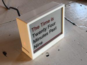 THE' - Time, Headlines, Environmental Data Display